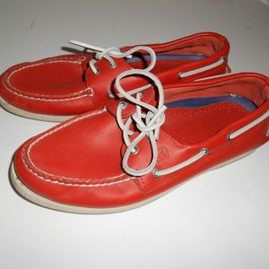 Sperry Shoes - Mens Red Sperry Top Sider Boat Shoes 10.5 M GC